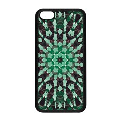Abstract Green Patterned Wallpaper Background Apple Iphone 5c Seamless Case (black)