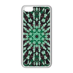 Abstract Green Patterned Wallpaper Background Apple iPhone 5C Seamless Case (White)