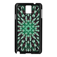 Abstract Green Patterned Wallpaper Background Samsung Galaxy Note 3 N9005 Case (Black)