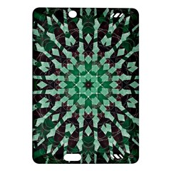 Abstract Green Patterned Wallpaper Background Amazon Kindle Fire Hd (2013) Hardshell Case