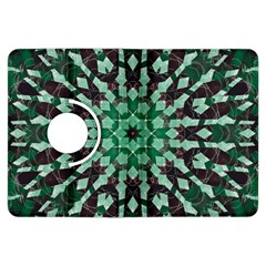 Abstract Green Patterned Wallpaper Background Kindle Fire HDX Flip 360 Case