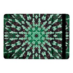 Abstract Green Patterned Wallpaper Background Samsung Galaxy Tab Pro 10.1  Flip Case