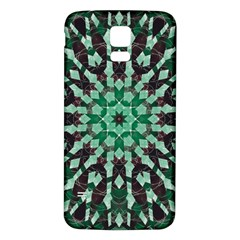Abstract Green Patterned Wallpaper Background Samsung Galaxy S5 Back Case (white)