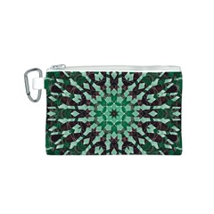 Abstract Green Patterned Wallpaper Background Canvas Cosmetic Bag (s)
