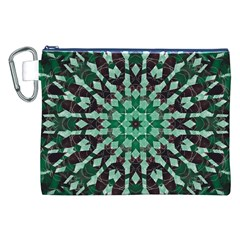 Abstract Green Patterned Wallpaper Background Canvas Cosmetic Bag (xxl)