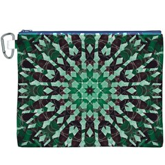 Abstract Green Patterned Wallpaper Background Canvas Cosmetic Bag (xxxl)