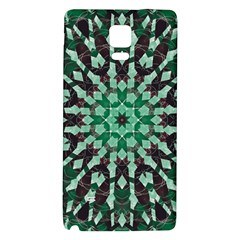 Abstract Green Patterned Wallpaper Background Galaxy Note 4 Back Case