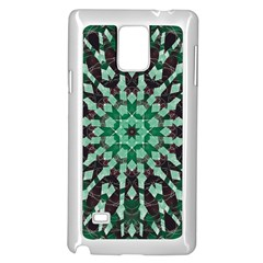 Abstract Green Patterned Wallpaper Background Samsung Galaxy Note 4 Case (White)
