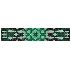 Abstract Green Patterned Wallpaper Background Flano Scarf (large)