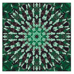 Abstract Green Patterned Wallpaper Background Large Satin Scarf (square)