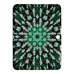 Abstract Green Patterned Wallpaper Background Samsung Galaxy Tab 4 (10.1 ) Hardshell Case