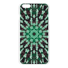 Abstract Green Patterned Wallpaper Background Apple Seamless iPhone 6 Plus/6S Plus Case (Transparent)