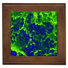 Abstract Green And Blue Background Framed Tiles