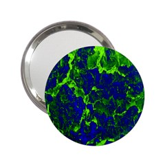 Abstract Green And Blue Background 2 25  Handbag Mirrors