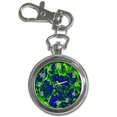 Abstract Green And Blue Background Key Chain Watches