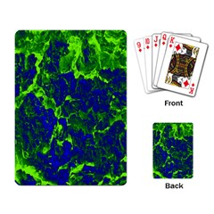Abstract Green And Blue Background Playing Card