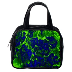 Abstract Green And Blue Background Classic Handbags (One Side)