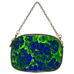 Abstract Green And Blue Background Chain Purses (Two Sides)