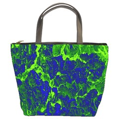 Abstract Green And Blue Background Bucket Bags