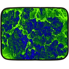 Abstract Green And Blue Background Double Sided Fleece Blanket (Mini)