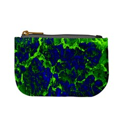 Abstract Green And Blue Background Mini Coin Purses