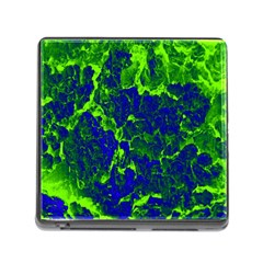 Abstract Green And Blue Background Memory Card Reader (square)