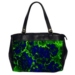 Abstract Green And Blue Background Office Handbags