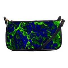 Abstract Green And Blue Background Shoulder Clutch Bags