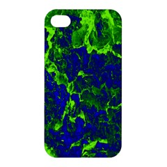 Abstract Green And Blue Background Apple Iphone 4/4s Premium Hardshell Case