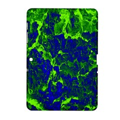 Abstract Green And Blue Background Samsung Galaxy Tab 2 (10 1 ) P5100 Hardshell Case