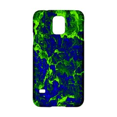 Abstract Green And Blue Background Samsung Galaxy S5 Hardshell Case