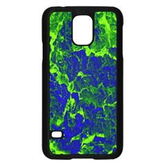 Abstract Green And Blue Background Samsung Galaxy S5 Case (Black)