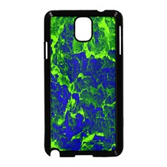 Abstract Green And Blue Background Samsung Galaxy Note 3 Neo Hardshell Case (black)