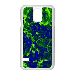 Abstract Green And Blue Background Samsung Galaxy S5 Case (White)