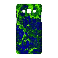 Abstract Green And Blue Background Samsung Galaxy A5 Hardshell Case