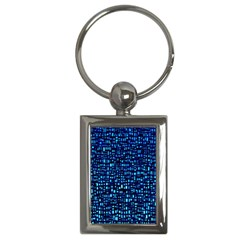 Blue Box Background Pattern Key Chains (rectangle)