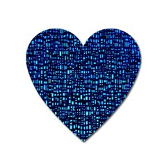Blue Box Background Pattern Heart Magnet