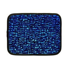 Blue Box Background Pattern Netbook Case (small)