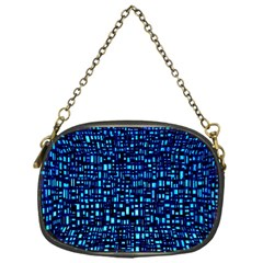 Blue Box Background Pattern Chain Purses (One Side)
