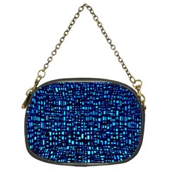 Blue Box Background Pattern Chain Purses (two Sides)