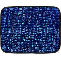Blue Box Background Pattern Double Sided Fleece Blanket (Mini)