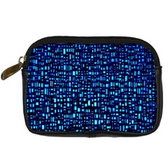 Blue Box Background Pattern Digital Camera Cases