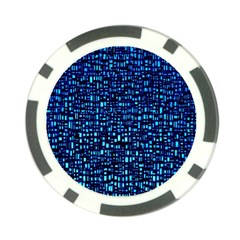 Blue Box Background Pattern Poker Chip Card Guard (10 pack)