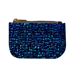 Blue Box Background Pattern Mini Coin Purses