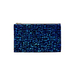 Blue Box Background Pattern Cosmetic Bag (Small)