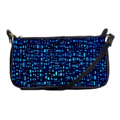 Blue Box Background Pattern Shoulder Clutch Bags