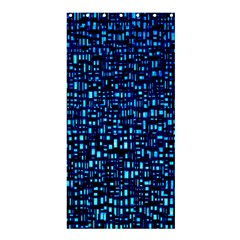 Blue Box Background Pattern Shower Curtain 36  x 72  (Stall)