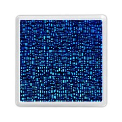 Blue Box Background Pattern Memory Card Reader (square)