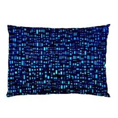 Blue Box Background Pattern Pillow Case (Two Sides)