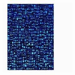 Blue Box Background Pattern Large Garden Flag (two Sides)
